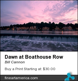 Dawn At Boathouse Row by Bill Cannon - Photograph - Photo