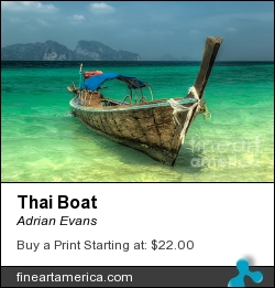 Thai Boat by Adrian Evans - Photograph