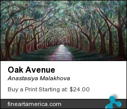 Oak Avenue by Anastasiya Malakhova - acrylic on canvas