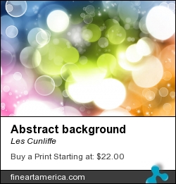 Abstract Background by Les Cunliffe - Photograph