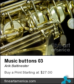 Music Buttons 03 by Arik Baltinester - Photograph - Photo Print