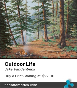 Outdoor Life by Jake Vandenbrink - Painting - Acrylic