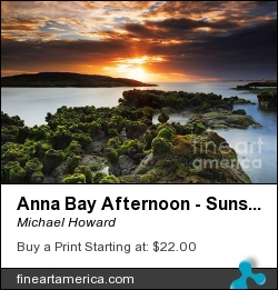 Anna Bay Afternoon - Sunset by Michael Howard - Photograph - Canvas