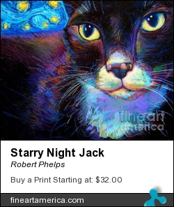 Starry Night Jack by Robert Phelps - Painting