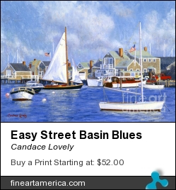Easy Street Basin Blues by Candace Lovely - Painting - Oil On Canvas