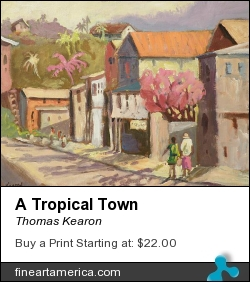 A Tropical Town by Thomas Kearon - Painting - Acylic On Canvas