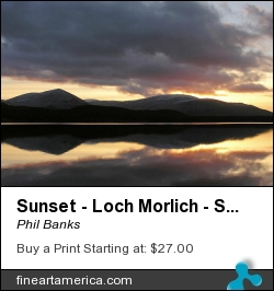 Sunset - Loch Morlich - Scotland by Phil Banks - Photograph