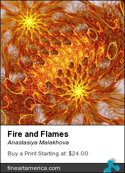 Fire and Flames by Anastasiya Malakhova - fractal art