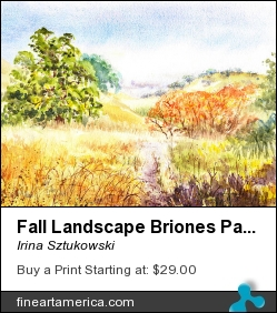 Fall Landscape Briones Park California by Irina Sztukowski - Painting - Painting