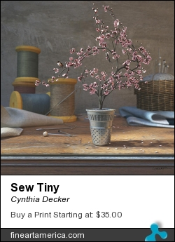 Sew Tiny by Cynthia Decker - Digital Art