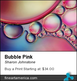 Bubble Pink by Sharon Johnstone - Photograph