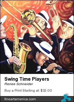 Swing Time Players by Renee Schneider - Painting - Acrylic