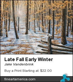Late Fall Early Winter by Jake Vandenbrink - Painting - Acrylic