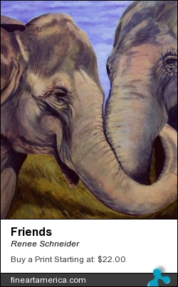 Friends by Renee Schneider - Painting - Acrylic On Canvas