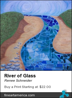 River Of Glass by Renee Schneider - Painting - Mixed Media