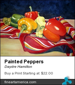 Painted Peppers by Daydre Hamilton - Painting - Watercolor