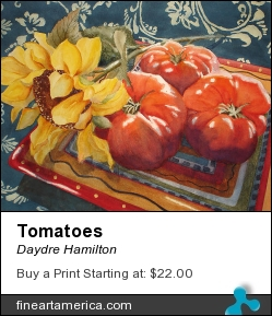 Tomatoes by Daydre Hamilton - Painting - Watercolor