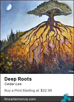 Deep Roots by Cedar Lee - Painting - Oil On Canvas