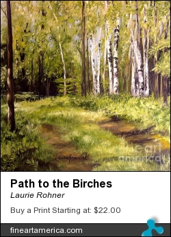 Path To The Birches by Laurie Rohner - Painting - Oil On Canvas