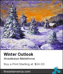 Winter Outlook by Anastasiya Malakhova - acrylic on canvas
