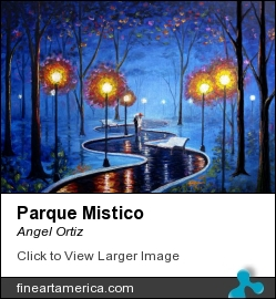 Parque Mistico by Angel Ortiz - Painting - Oil On Wood Pannel