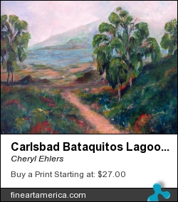 Carlsbad Bataquitos Lagoon by Cheryl Ehlers - Painting - Acrylic