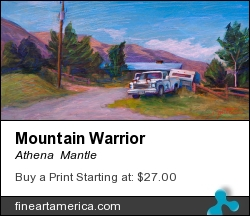 Mountain Warrior by Athena  Mantle - Painting - Acrylic On Panel