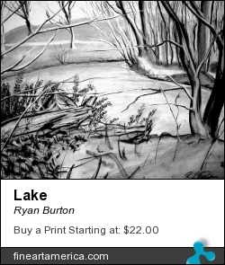 Lake by Ryan Burton - Drawing - Charcoal On Paper