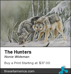 The Hunters by Nonie Wideman - Painting - Watercolor On Watercolor Board