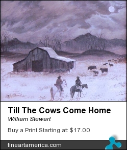 Till The Cows Come Home by William Stewart - Painting - Aqrylic