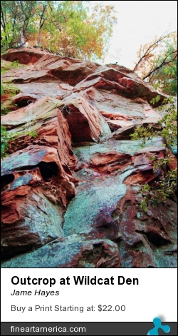 Outcrop At Wildcat Den by Jame Hayes - Photograph - Photo