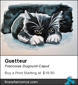 Guetteur by Francoise Dugourd-Caput - Painting - Watercolor