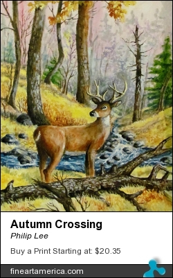 Autumn Crossing by Philip Lee - Painting - Oil Painting