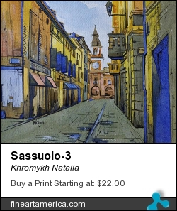 Sassuolo-3 by Khromykh Natalia - Painting - Watercolor,paper,ink