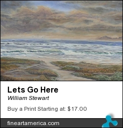 Lets Go Here by William Stewart - Painting - Aqrylic