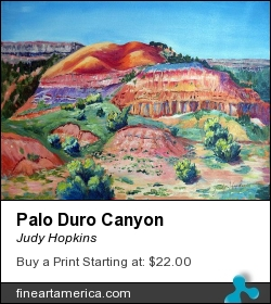 Palo Duro Canyon by Judy Hopkins - Painting - Acrylic On Canvas