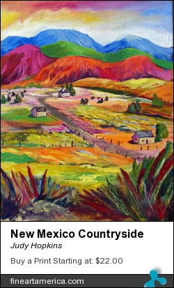 New Mexico Countryside by Judy Hopkins - Painting - Acrylic On Canvas