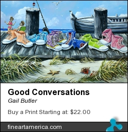 Good Conversations by Gail Butler - Painting - Acrylic On Canvas