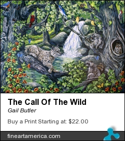 The Call Of The Wild by Gail Butler - Painting - Acrylic On Canvas
