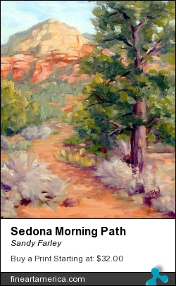 Sedona Morning Path by Sandy Farley - Painting - Oils