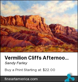 Vermilion Cliffs Afternoon by Sandy Farley - Painting - Oils