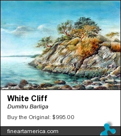 White Cliff by Dumitru Barliga - Painting