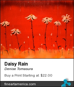 Daisy Rain by Denise Tomasura - Painting - Oil On Canvas Panel