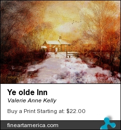 Ye Olde Inn by Valerie Anne Kelly - Digital Art - Tradigital