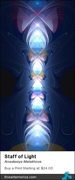 Staff of Light by Anastasiya Malakhova - fractal art