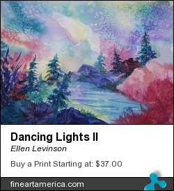 Dancing Lights II by Ellen Levinson - Painting - Watercolor