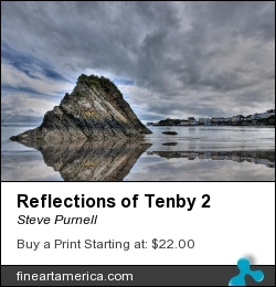 Reflections Of Tenby 2 by Steve Purnell - Photograph - Photograph