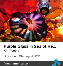 Purple Glass In Sea Of Red by Kirt Tisdale - Digital Art - Watercolor