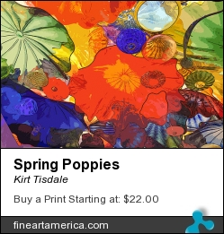 Spring Poppies by Kirt Tisdale - Digital Art - Watercolor