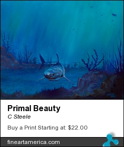 Primal Beauty by C Steele - Painting - Oil On Canvas